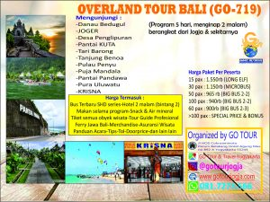 Overland Bali 5d Go Tour And Travel Jogja