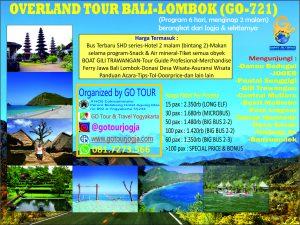 Overland Bali Lombok 6d Go Tour And Travel Jogja